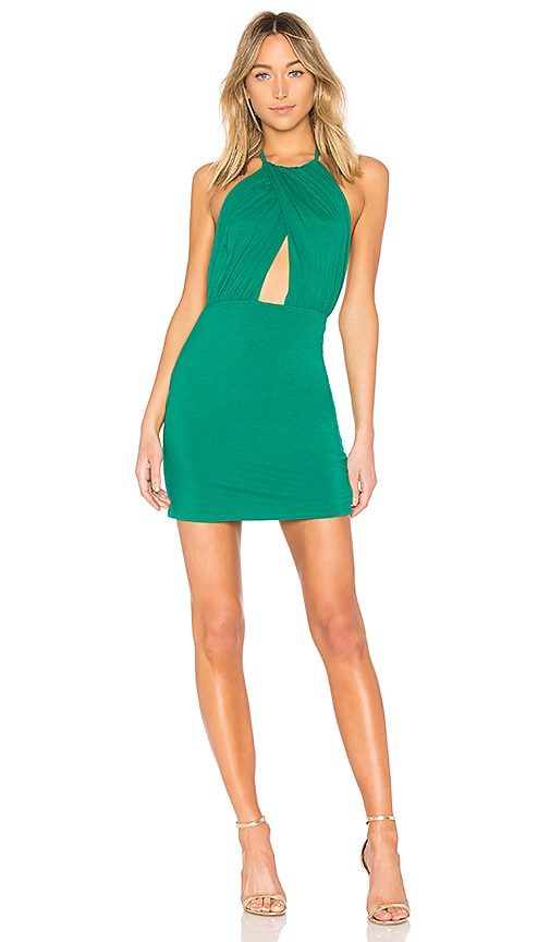 by the way. Rosie Halter Mini Dress in Green