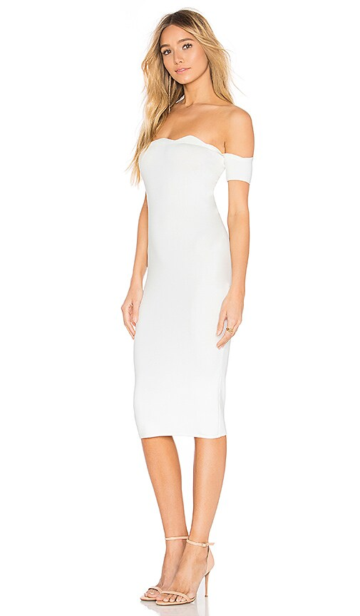 by the way. Xio off shoulder dress in White