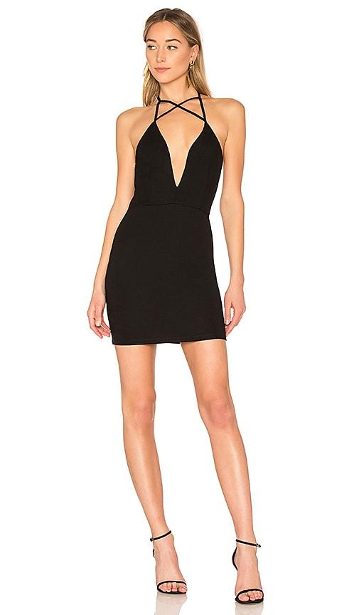 by the way. Nori Criss Cross Mini Dress in Black