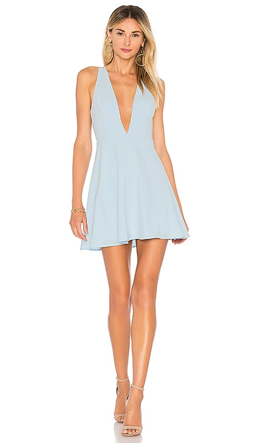 Sammie Deep V Skater Dress