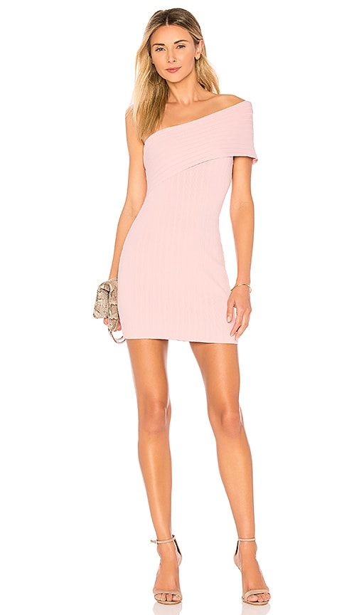 5b4b31bbabe superdown Diana One Shoulder Mini in Blush