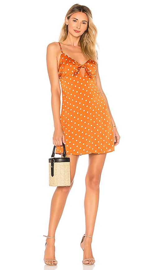 by the way. Tiara Tie Front Dress in Orange