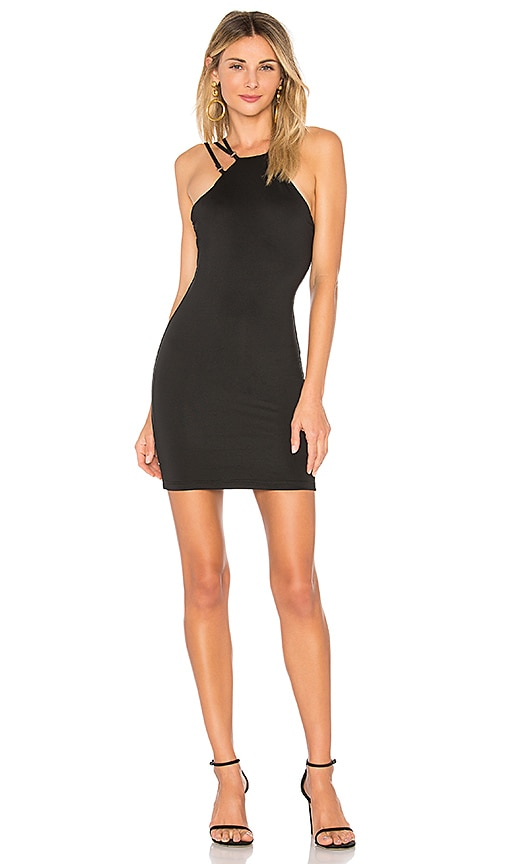 by the way. Kenley O Ring Halter Dress in Black