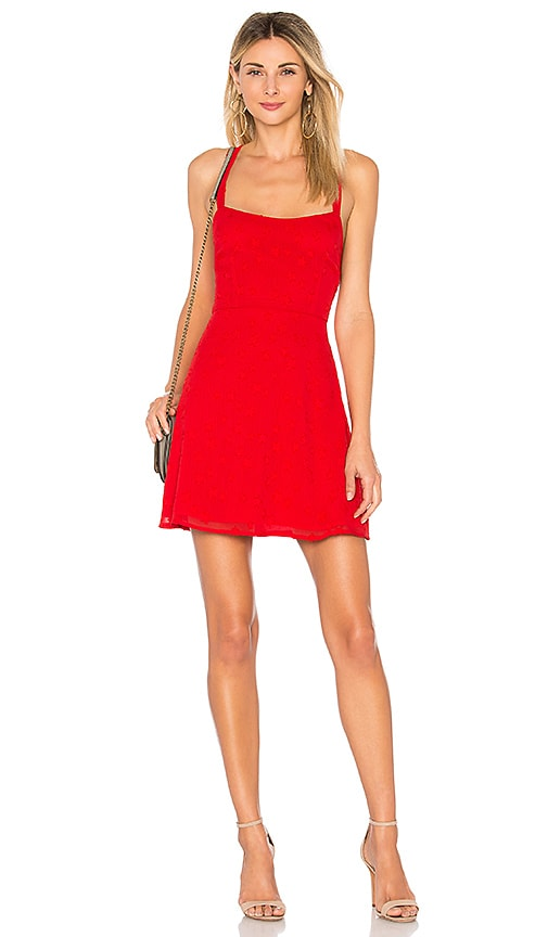 by the way. Makayla Star Mini Dress in Red