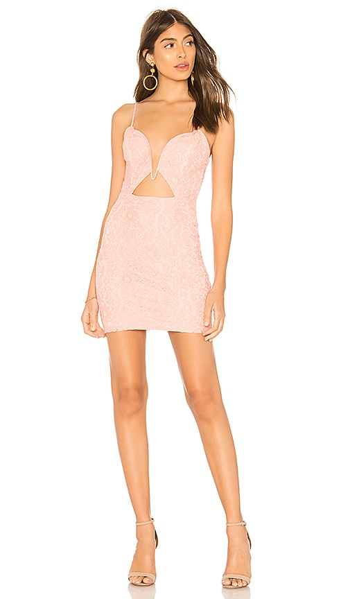 by the way. Bria Lace Cut Out Dress in Pink