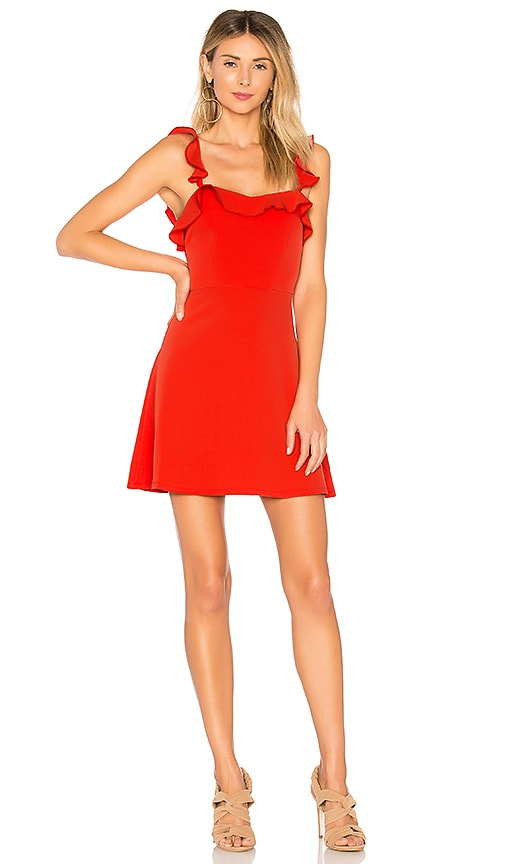 by the way. Peyton Ruffle Cami Dress in Red