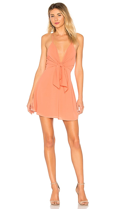 by the way. Liliana Tie Front Dress in Orange
