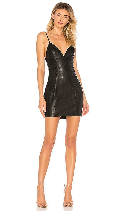 by the way. Becca Faux Leather Dress in Black