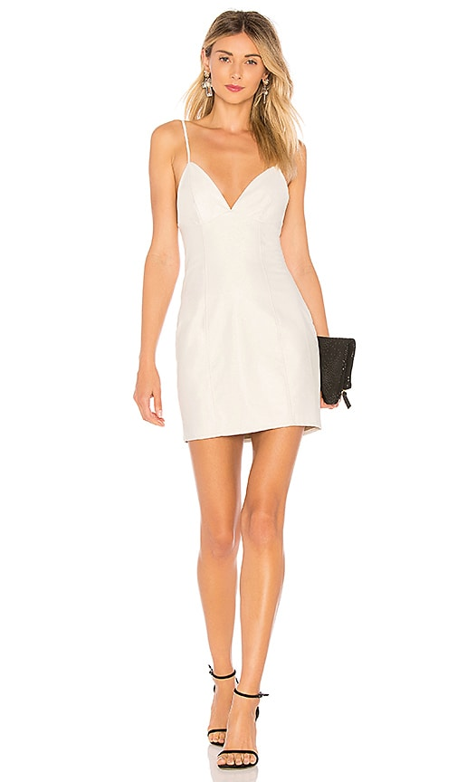 by the way. Becca Faux Leather Dress in White