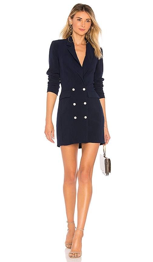 By The Way Madeline Blazer Dress In Navy Revolve