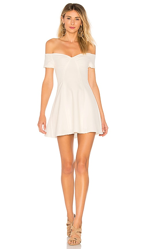 by the way. Monica Fit & Flare Dress in Ivory