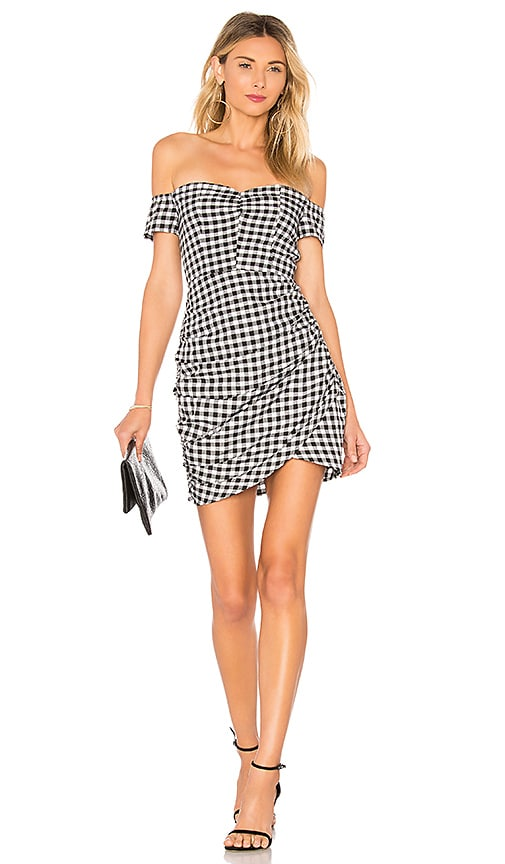 by the way. Roselyn Gingham Off Shoulder Dress in Black