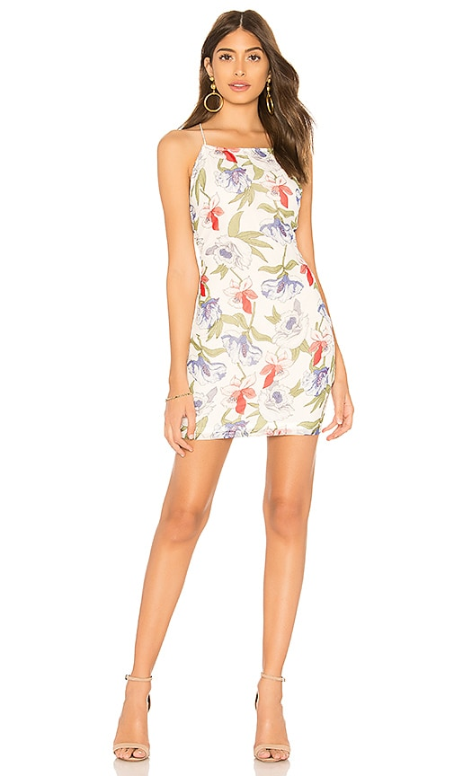 by the way. Kallie Floral Print Dress in White
