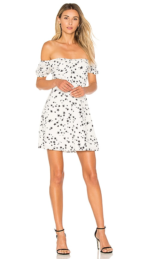 by the way. Lux Off Shoulder Skater Dress in White