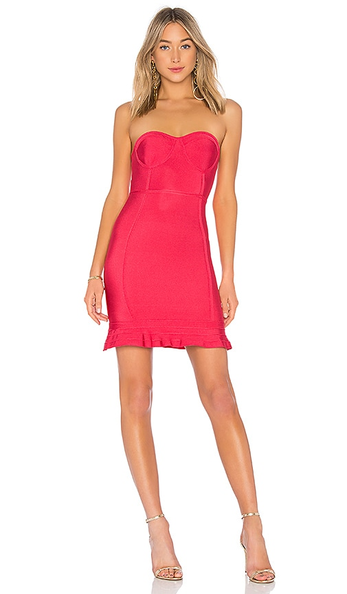 by the way. Gemma Ruffle Bandage Dress in Pink