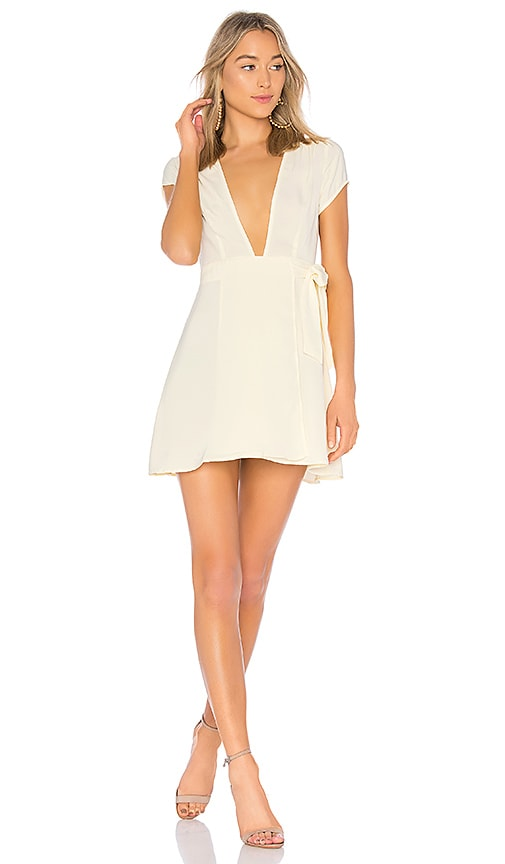 by the way. Kaia Wrap Dress in Cream