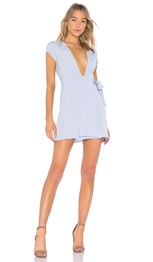 by the way. Kaia Wrap Dress in Lavender