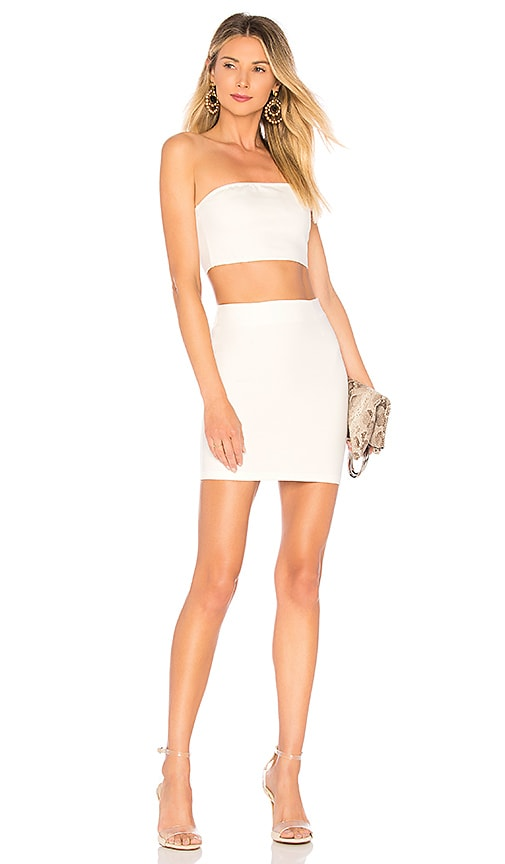 by the way. Alise Bandeau Mini Set in White
