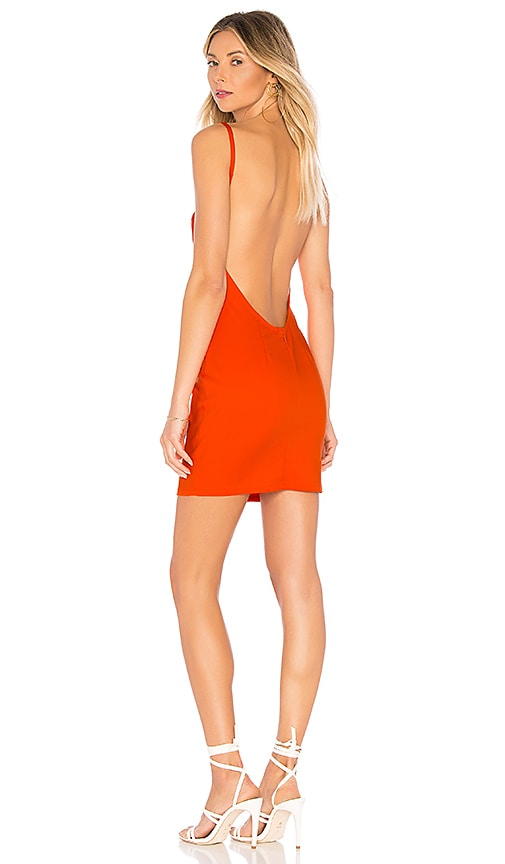 by the way. Petra Backless Mini Dress in Red