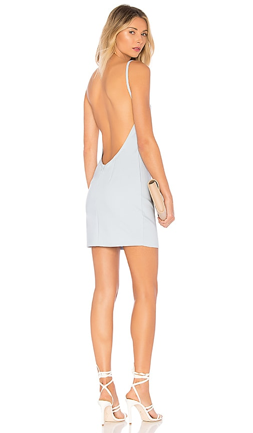 by the way. Petra Backless Mini Dress in Baby Blue