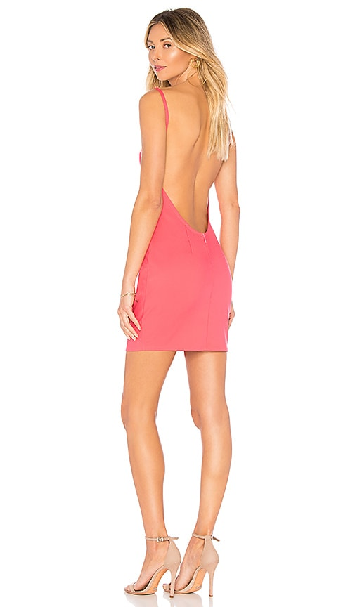 by the way. Petra Backless Mini Dress in Fuchsia
