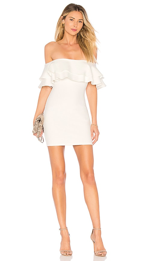 by the way. Rhiannon Tiered Mini Dress in White