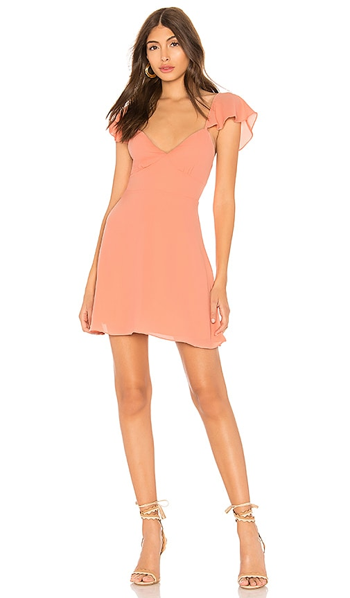 by the way. Noleen Chiffon Dress in Peach