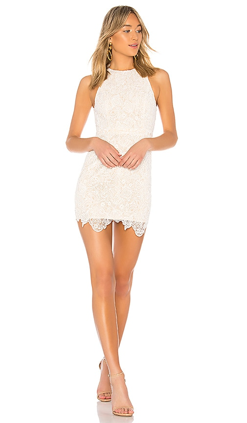 Superdown Patty High Neck Crochet Dress In Ivory Revolve