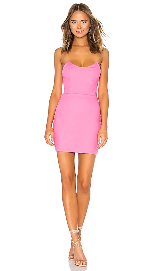 by the way. Stevie Sweetheart Mini Dress in Pink