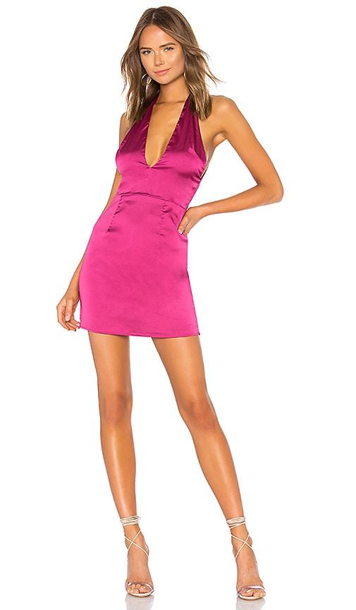 by the way. Gabbi Deep V Dress in Fuchsia
