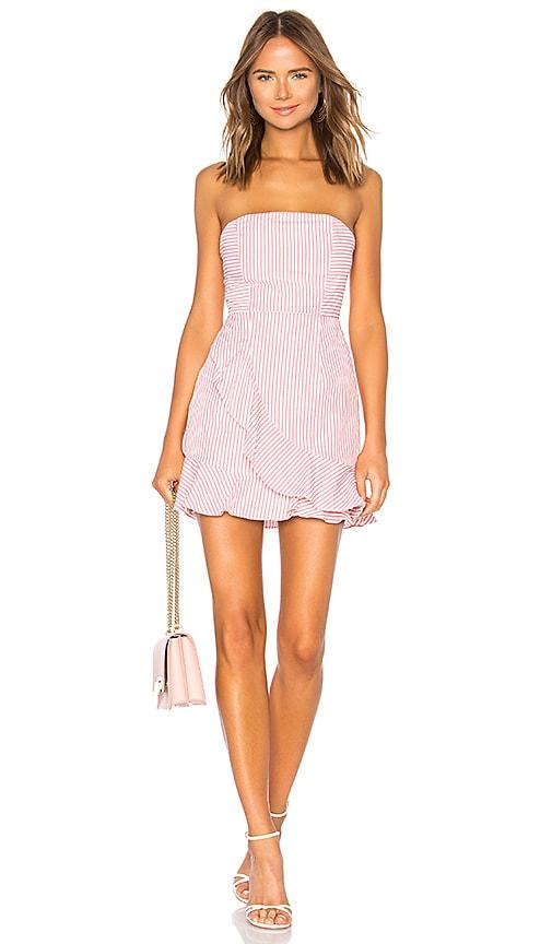 by the way. Rosalie Stripe Ruffle Dress in Pink