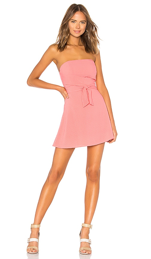 by the way. Jency Wrap Tube Dress in Coral