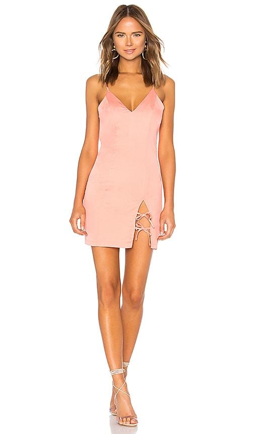 by the way. Tenley Tie Mini Dress in Peach