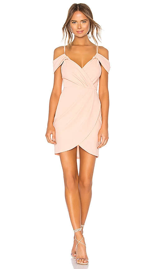 by the way. Brenda Draped Dress in Blush