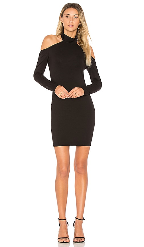 by the way. Mona Cold Shoulder Bodycon Dress in Black