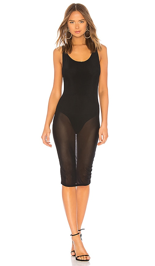 by the way. Oakley Sheer Bodycon Dress in Black