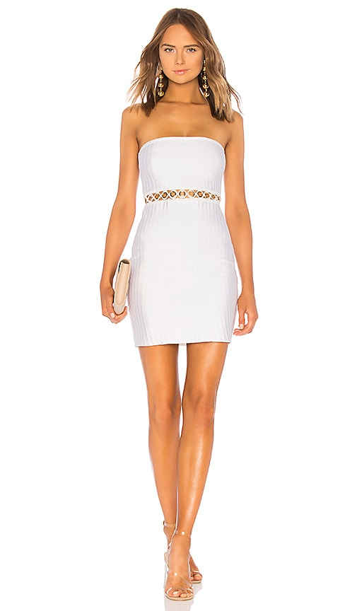 by the way. Candy Grommet Strapless Dress in White