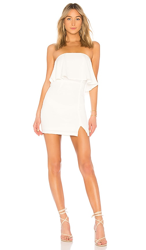 4c3f67a3da superdown Catalina Ruffle Tube Mini Dress in White
