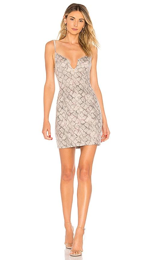 Kelsie Python Bustier Dress