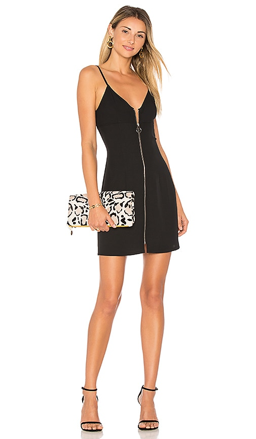 by the way. Illie Zip Front Mini Dress in Black