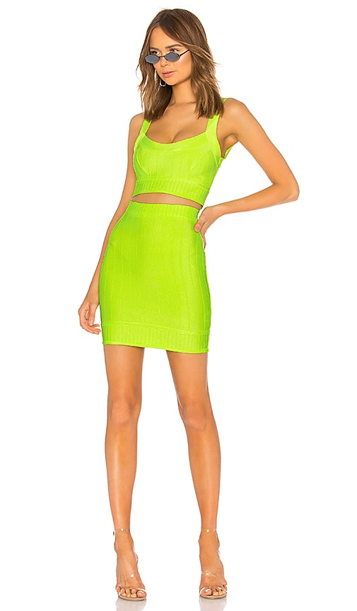 a05b4b869cf0c superdown Joy Mini Bandage Set in Neon Green | REVOLVE
