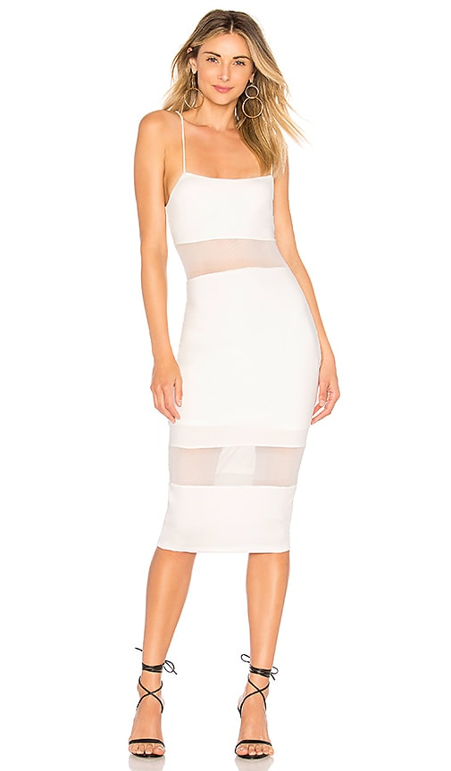 Naomi Mesh Cut Out Midi Dress