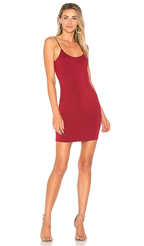 by the way. Hana Cowl Back Mini Dress in Burgundy