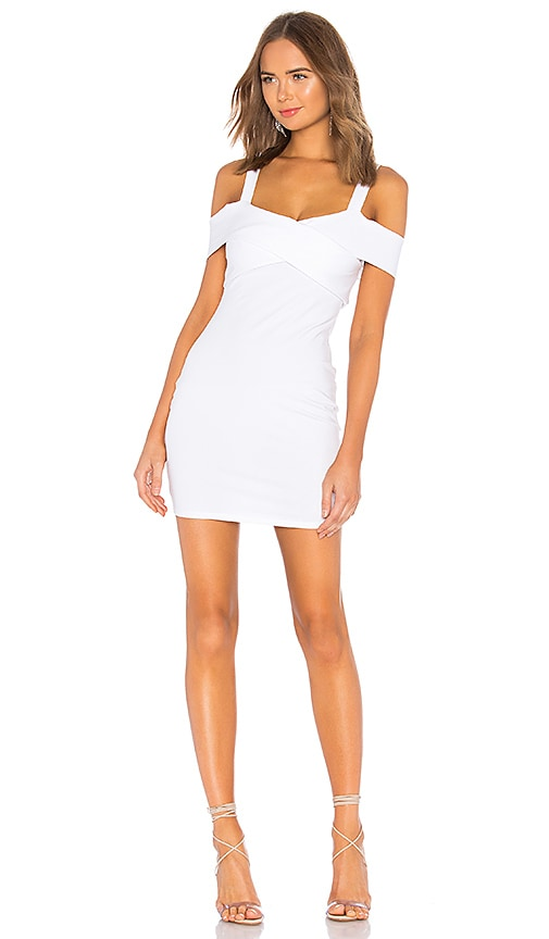 246a58ba9135 by the way. Evie Cold Shoulder Mini Dress in White | REVOLVE