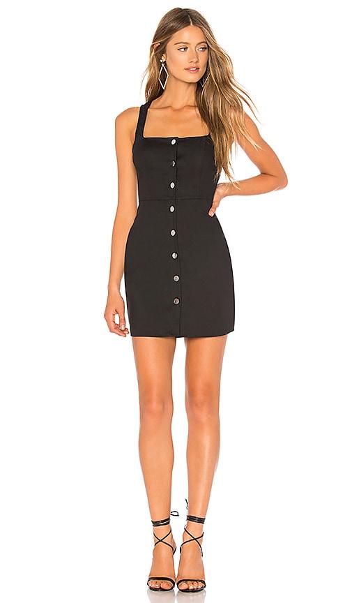 554fa1480a080 by the way. Demi Button Up Mini Dress in Black | REVOLVE