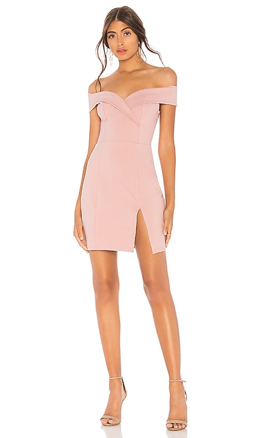 1794023a6dd3 superdown Naya Off Shoulder Dress in Mauve | REVOLVE