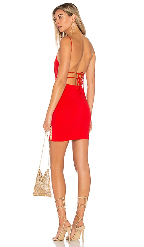 by the way. x REVOLVE Solange Mini Dress in Red
