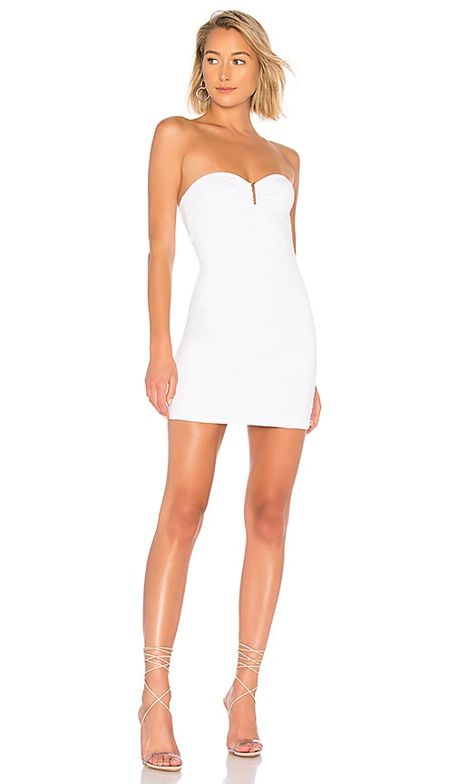 Evelyn U Ring Strapless Bodycon Dress