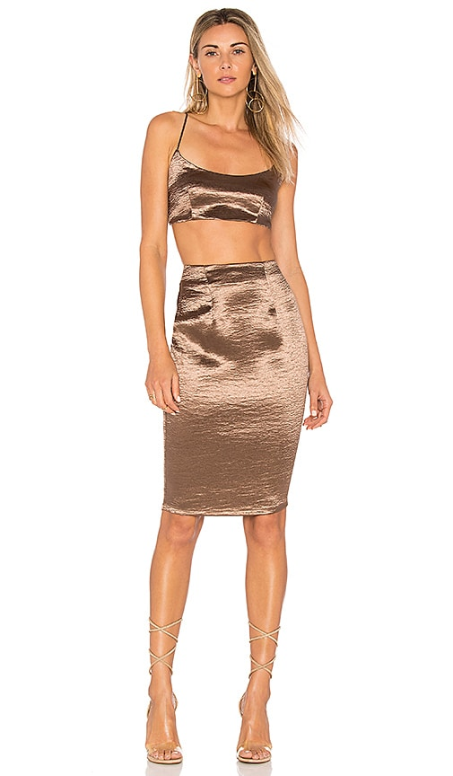 by the way. Whitley Cami Midi Set in Metallic Bronze