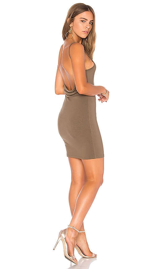 by the way. Hana Cowl Back Mini Dress in Olive